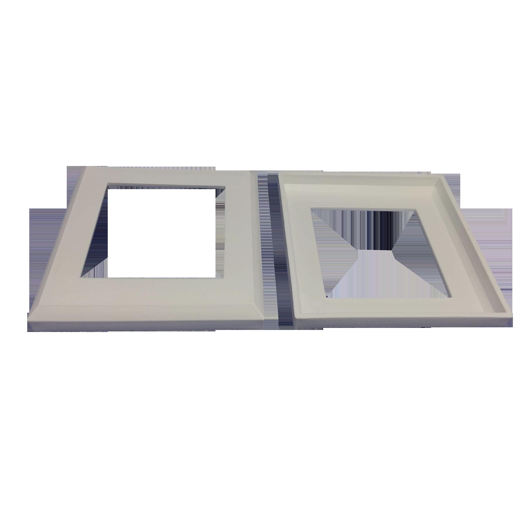 Canopla Quadrada 50 x 50 mm Cinza