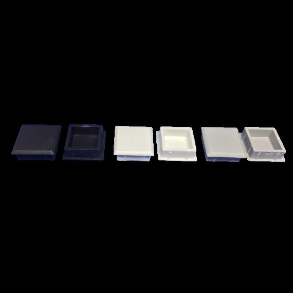 Tampas 25 x 25 mm nas 3 cores (Branco, Preto, Cinza)